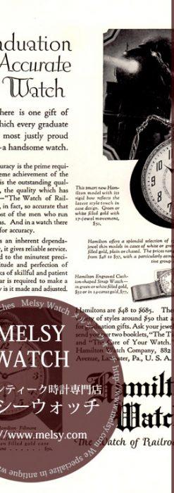 ハミルトン印刷物-M3165