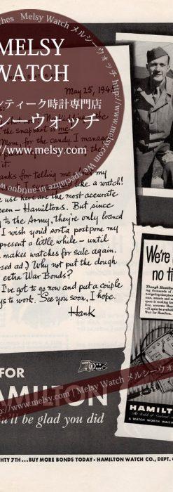 ハミルトンの広告-1945年