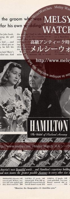 ハミルトン広告 【1941年頃】 新郎を待つ花嫁-M3282