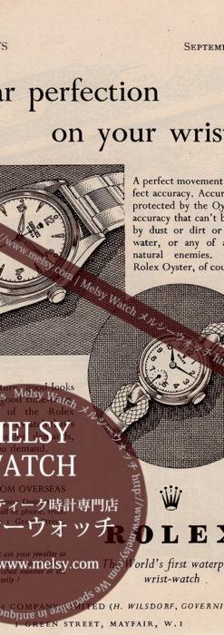 ロレックス広告 【1951年頃】 オイスターと婦人物腕時計-M3289