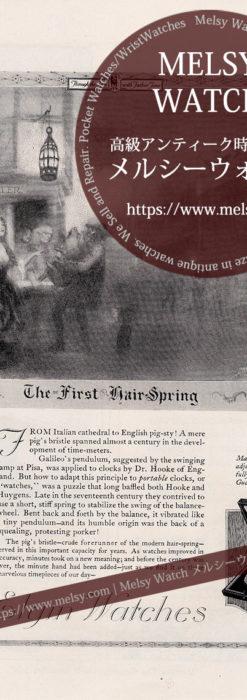 エルジン広告 【1921年頃】 豚を抱える男性と懐中時計-M3367
