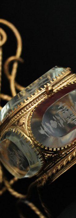 鏡とジュエリーケース付き懐中時計スタンド-S0828-1