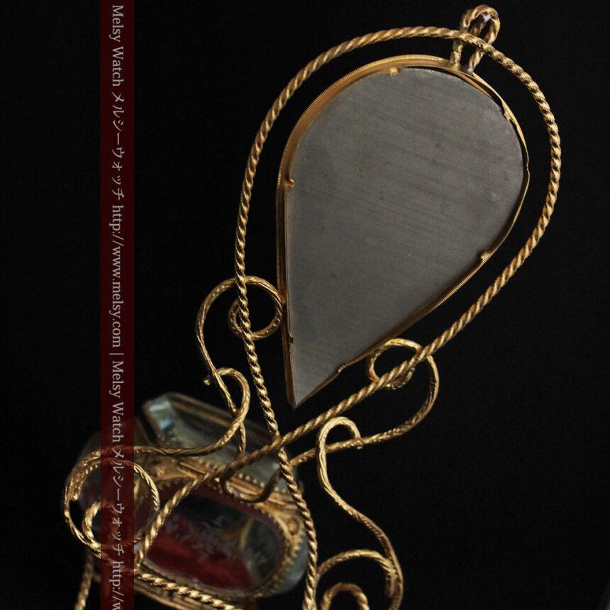 鏡とジュエリーケース付き懐中時計スタンド-S0828-13