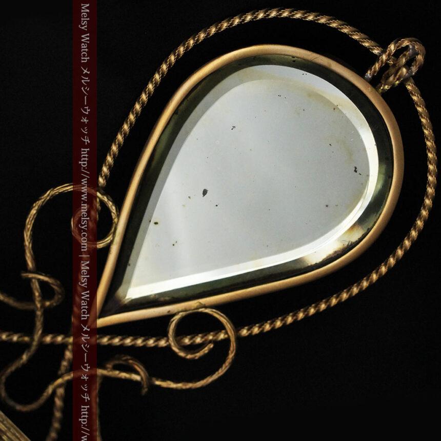 鏡とジュエリーケース付き懐中時計スタンド-S0828-7