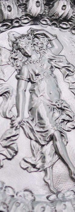 女神のアンティーク銀無垢懐中時計スタンド-S0840-1