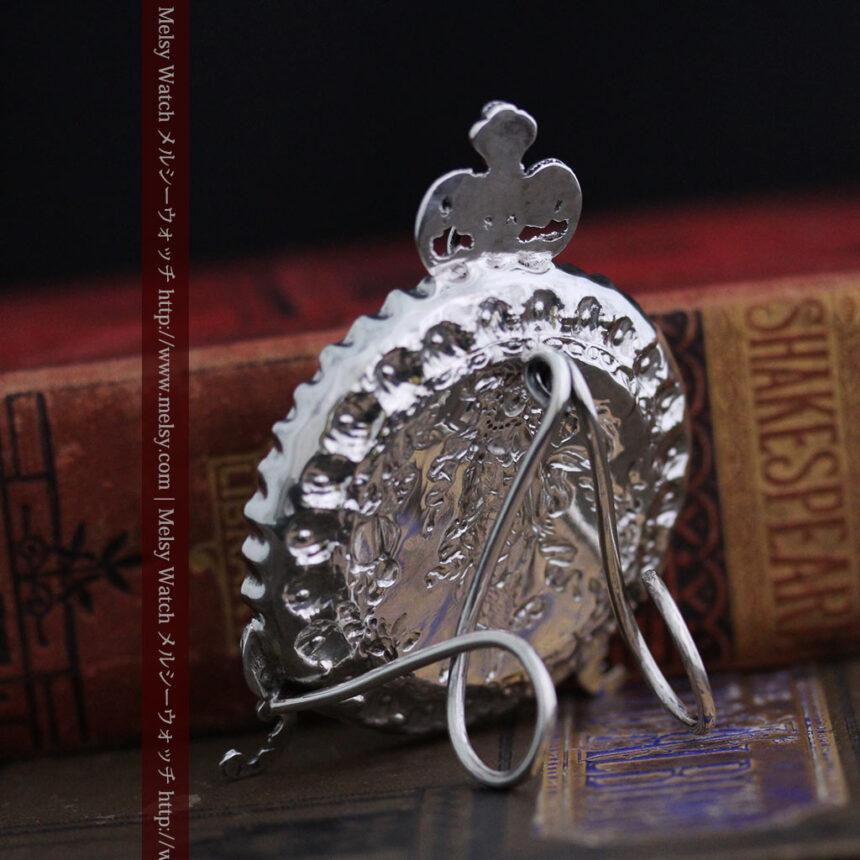 女神のアンティーク銀無垢懐中時計スタンド-S0840-11