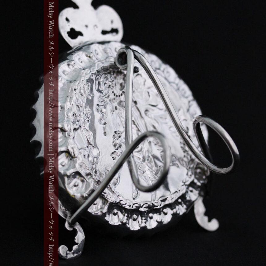 女神のアンティーク銀無垢懐中時計スタンド-S0840-13