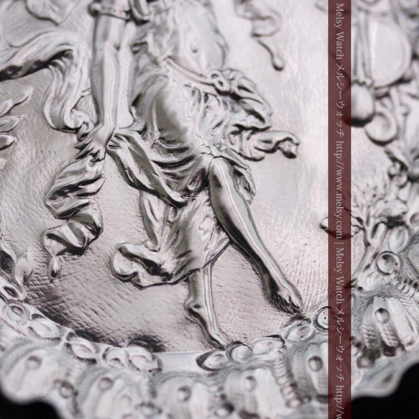 女神のアンティーク銀無垢懐中時計スタンド-S0840-5
