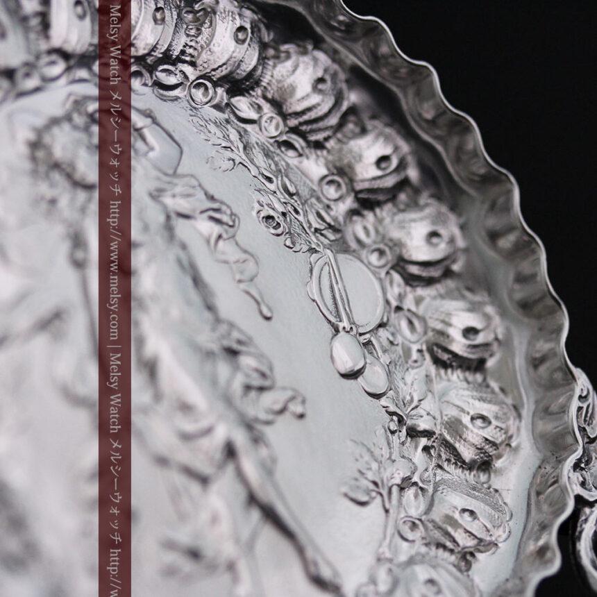 女神のアンティーク銀無垢懐中時計スタンド-S0840-8
