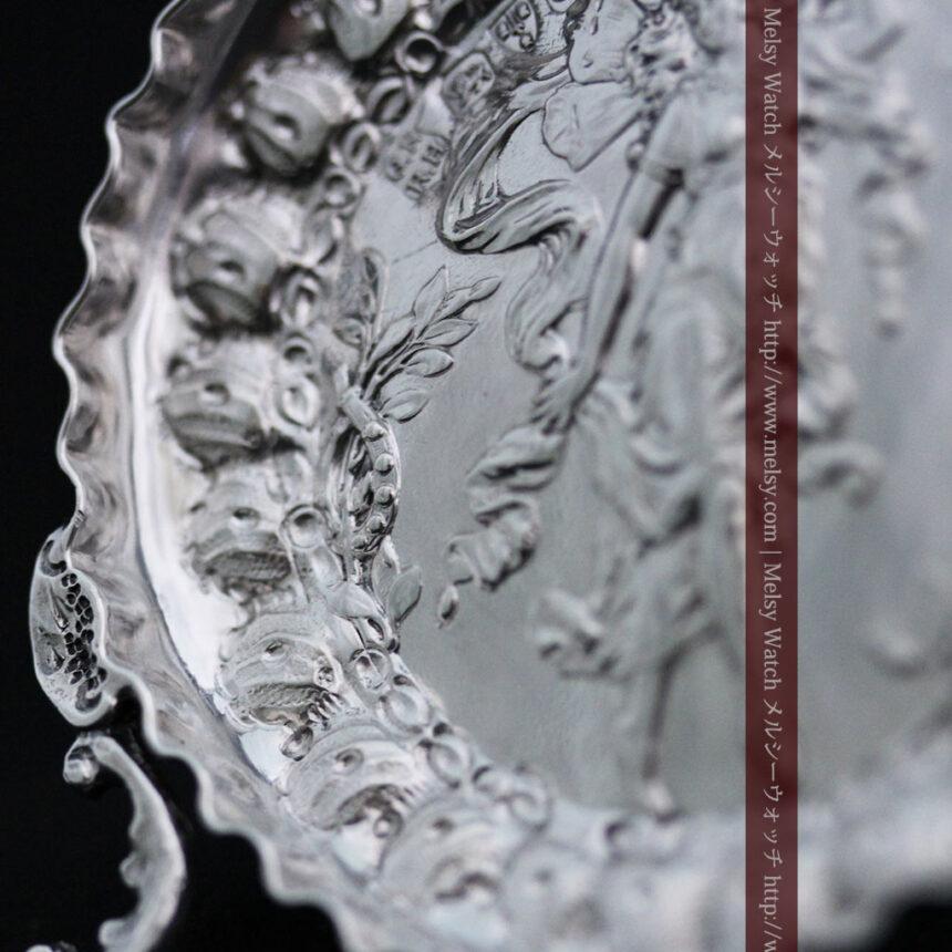女神のアンティーク銀無垢懐中時計スタンド-S0840-9