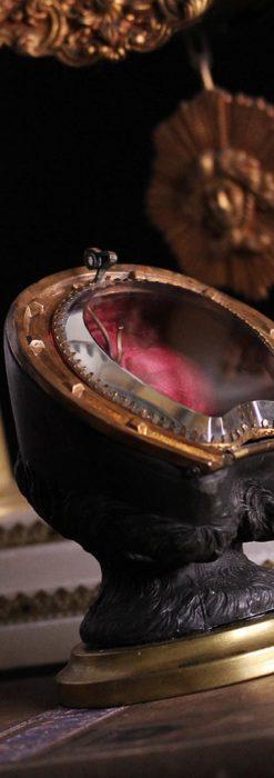 蹄鉄と馬の足を模った懐中時計用アンティークスタンド-S0841-1