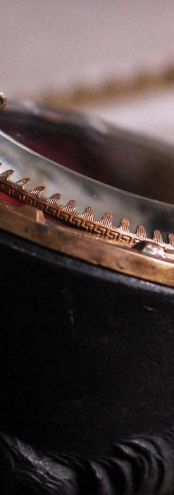蹄鉄と馬の足を模った懐中時計用アンティークスタンド-S0841-12