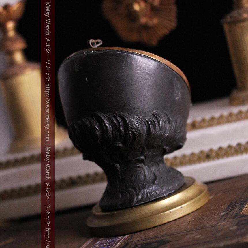 蹄鉄と馬の足を模った懐中時計用アンティークスタンド-S0841-13