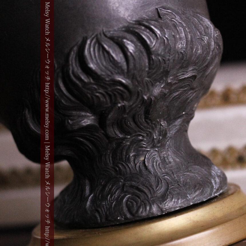 蹄鉄と馬の足を模った懐中時計用アンティークスタンド-S0841-14