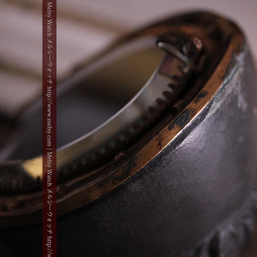 蹄鉄と馬の足を模った懐中時計用アンティークスタンド-S0841-16