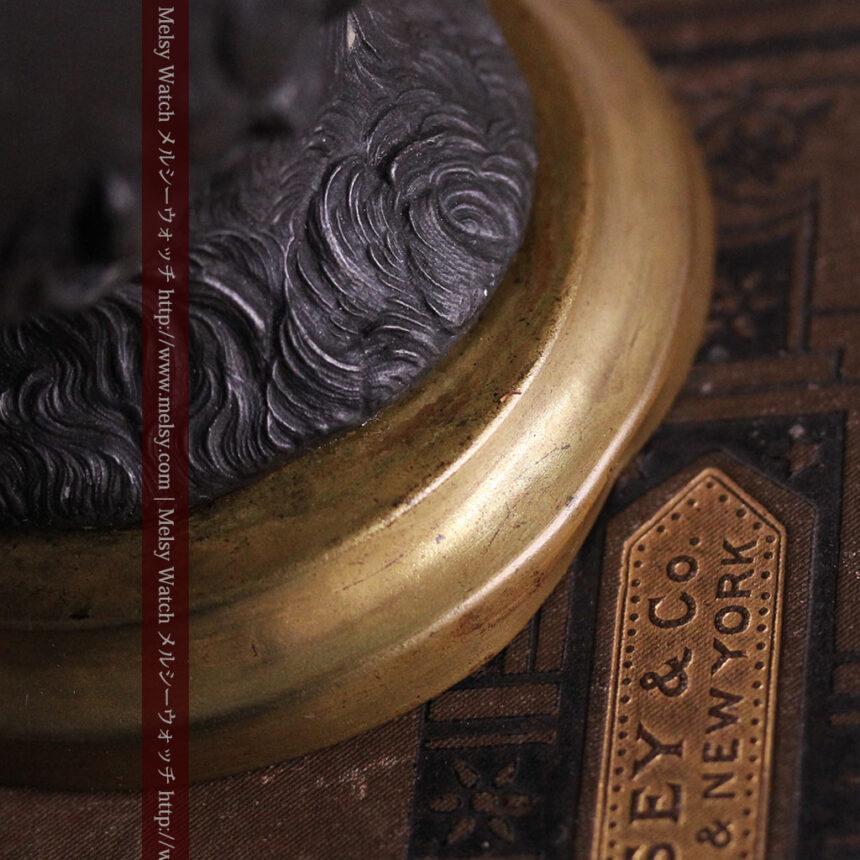 蹄鉄と馬の足を模った懐中時計用アンティークスタンド-S0841-18