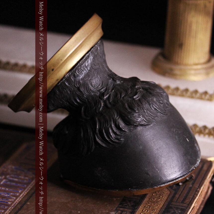 蹄鉄と馬の足を模った懐中時計用アンティークスタンド-S0841-19