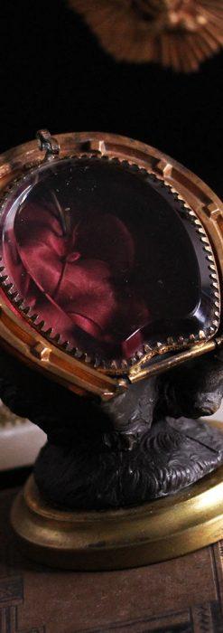 蹄鉄と馬の足を模った懐中時計用アンティークスタンド-S0841-2