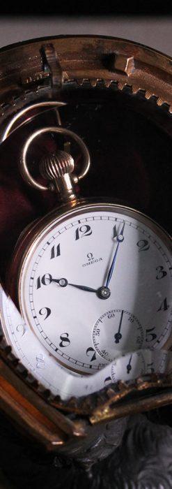 蹄鉄と馬の足を模った懐中時計用アンティークスタンド-S0841-20