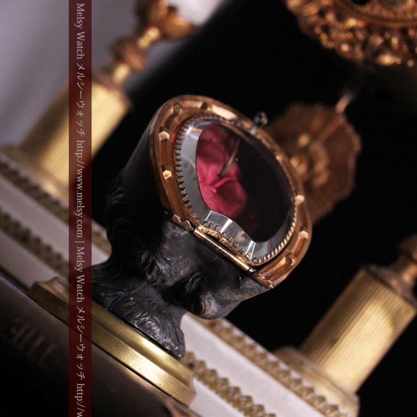 蹄鉄と馬の足を模った懐中時計用アンティークスタンド-S0841-4