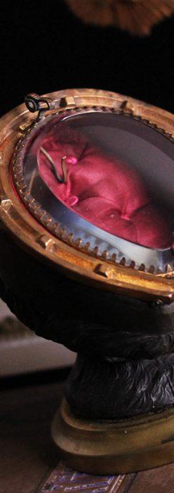 蹄鉄と馬の足を模った懐中時計用アンティークスタンド-S0841-5
