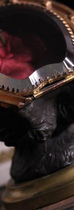 蹄鉄と馬の足を模った懐中時計用アンティークスタンド-S0841-6