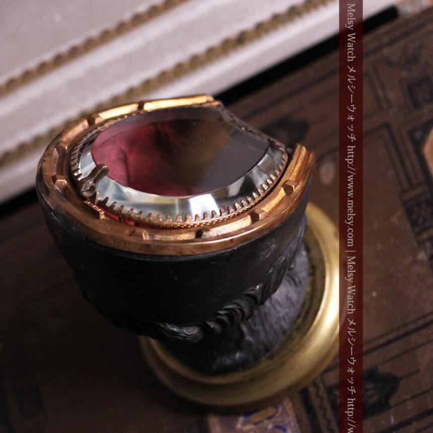 蹄鉄と馬の足を模った懐中時計用アンティークスタンド-S0841-7