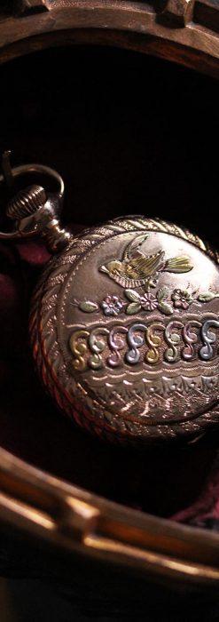 蹄鉄と馬の足を模った懐中時計用アンティークスタンド-S0841-9