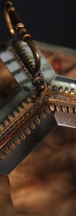 五角形の扉を持つアンティーク懐中時計収納スタンド-S0842-10