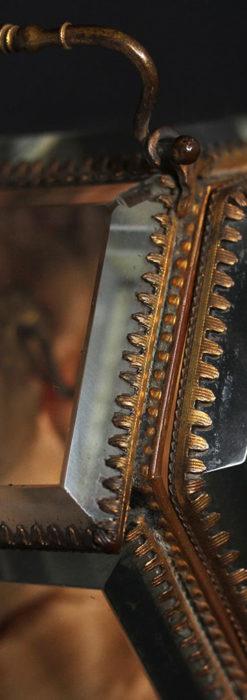 五角形の扉を持つアンティーク懐中時計収納スタンド-S0842-11