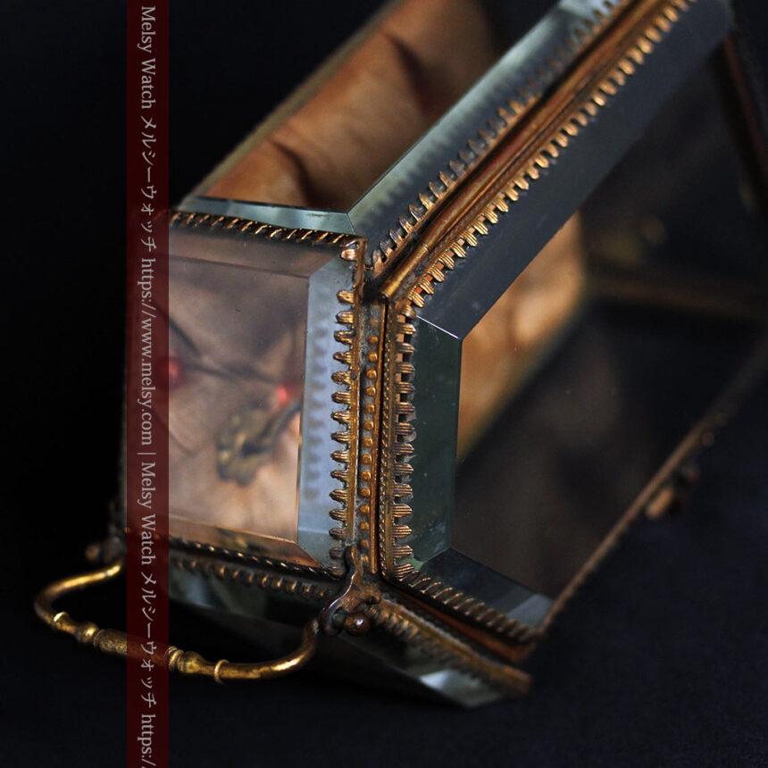 五角形の扉を持つアンティーク懐中時計収納スタンド-S0842-15
