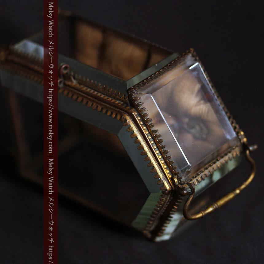 五角形の扉を持つアンティーク懐中時計収納スタンド-S0842-16