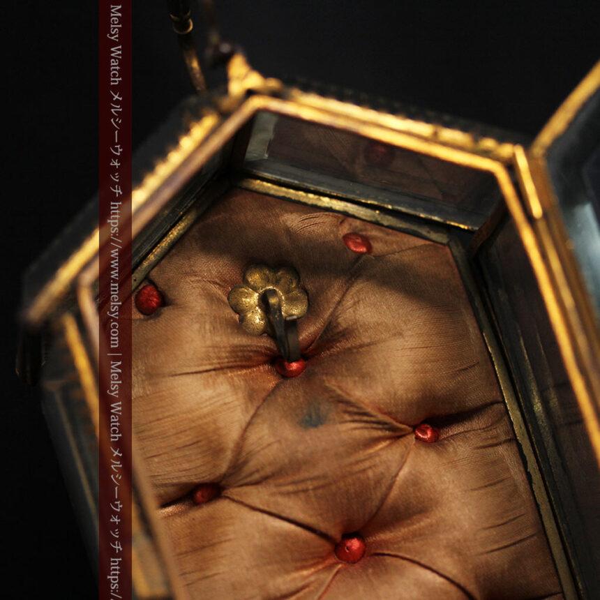 五角形の扉を持つアンティーク懐中時計収納スタンド-S0842-18