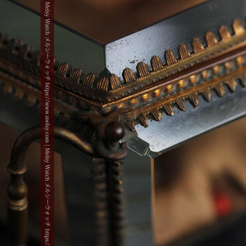 五角形の扉を持つアンティーク懐中時計収納スタンド-S0842-20