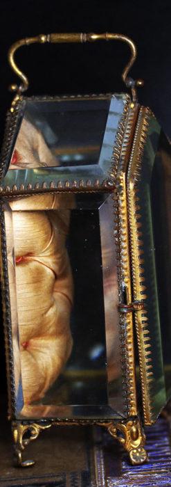 五角形の扉を持つアンティーク懐中時計収納スタンド-S0842-5