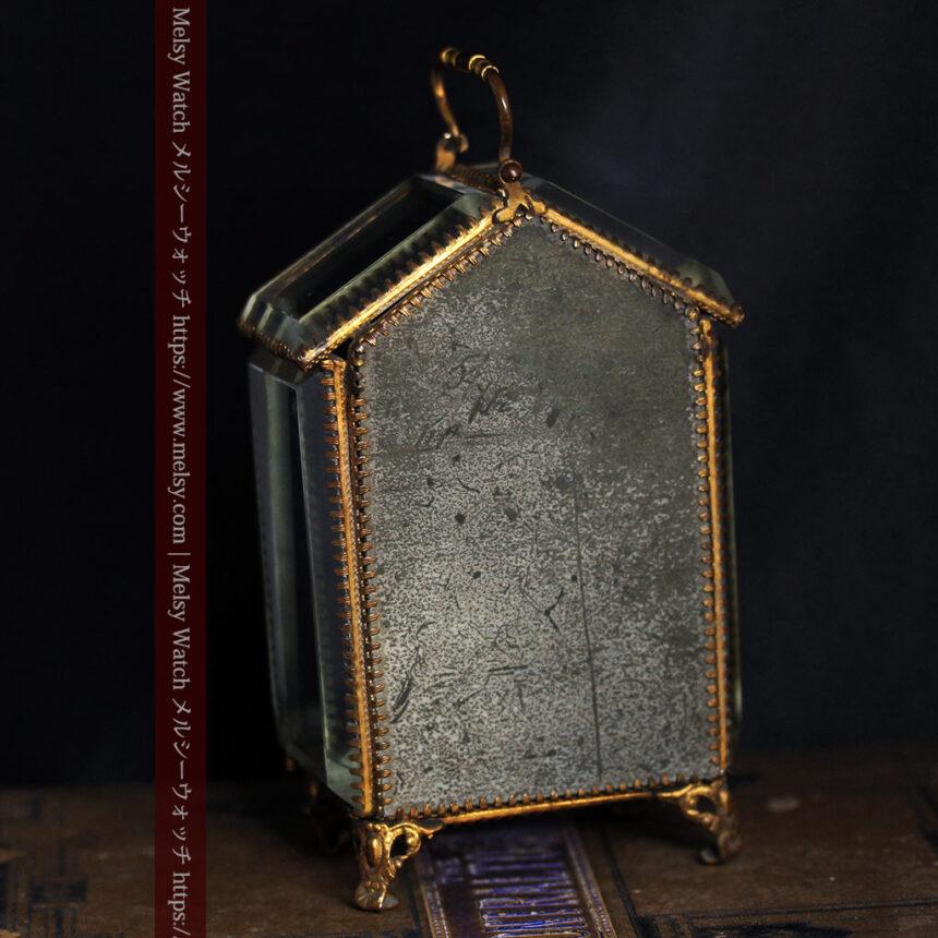 五角形の扉を持つアンティーク懐中時計収納スタンド-S0842-7