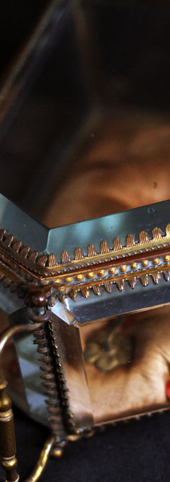 五角形の扉を持つアンティーク懐中時計収納スタンド-S0842-8
