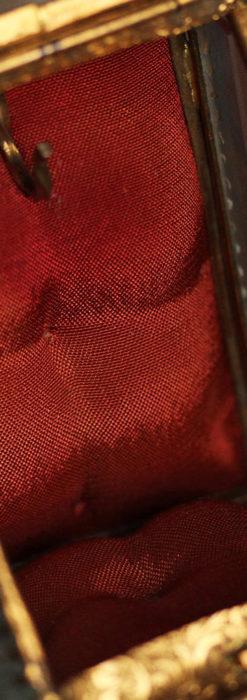 懐中時計収納用ガラスケース 装飾入り三角形-S0843-10