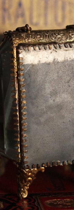 懐中時計収納用ガラスケース 装飾入り三角形-S0843-13