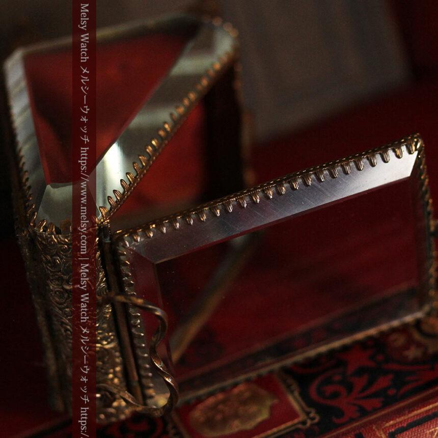 懐中時計収納用ガラスケース 装飾入り三角形-S0843-8