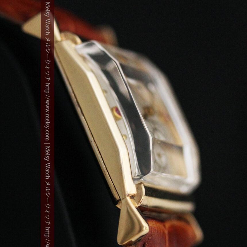 グリュエンのルビー入りアンティーク腕時計-W1099-12