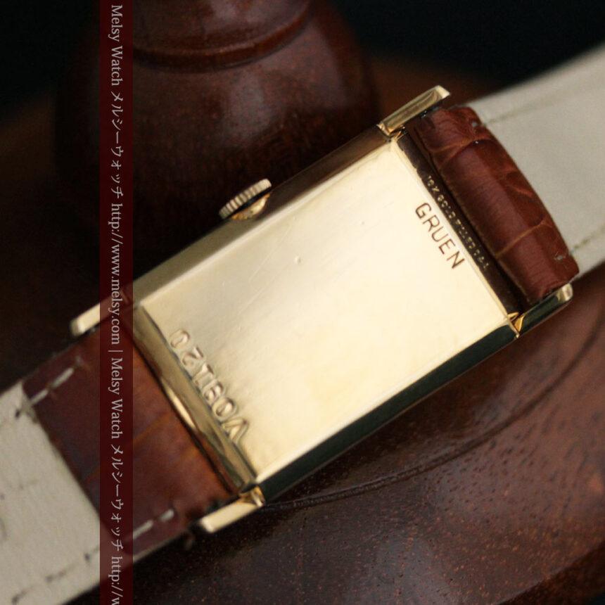 グリュエンのルビー入りアンティーク腕時計-W1099-14