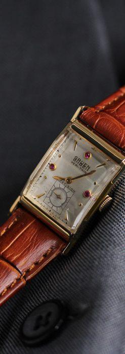 グリュエンのルビー入りアンティーク腕時計-W1099-3
