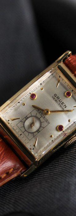 グリュエンのルビー入りアンティーク腕時計-W1099-4