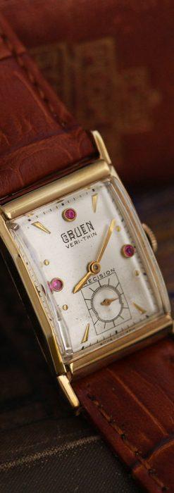 グリュエンのルビー入りアンティーク腕時計-W1099-6