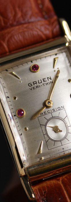 グリュエンのルビー入りアンティーク腕時計-W1099-8