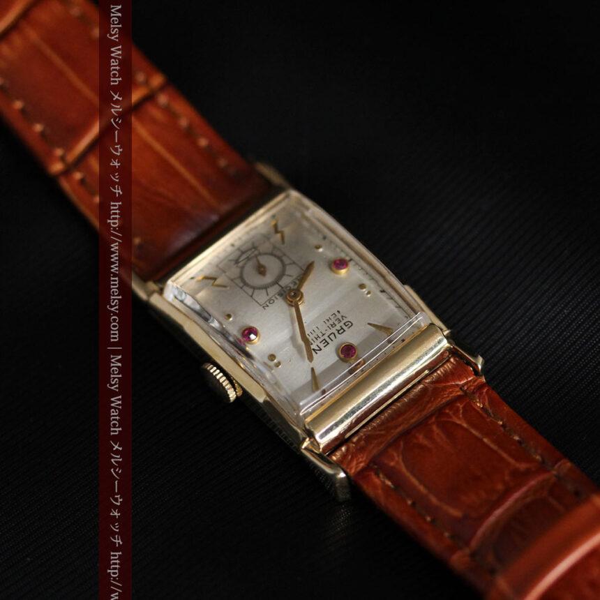 グリュエンのルビー入りアンティーク腕時計-W1099-9