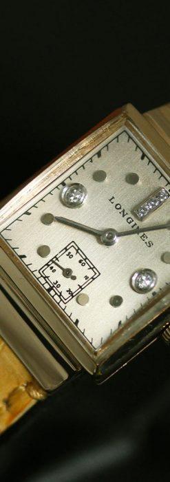 ロンジンのダイヤモンド入り金無垢アンティーク腕時計-W1130-10
