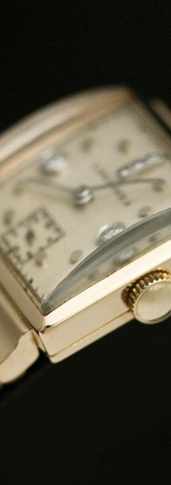 ロンジンのダイヤモンド入り金無垢アンティーク腕時計-W1130-11
