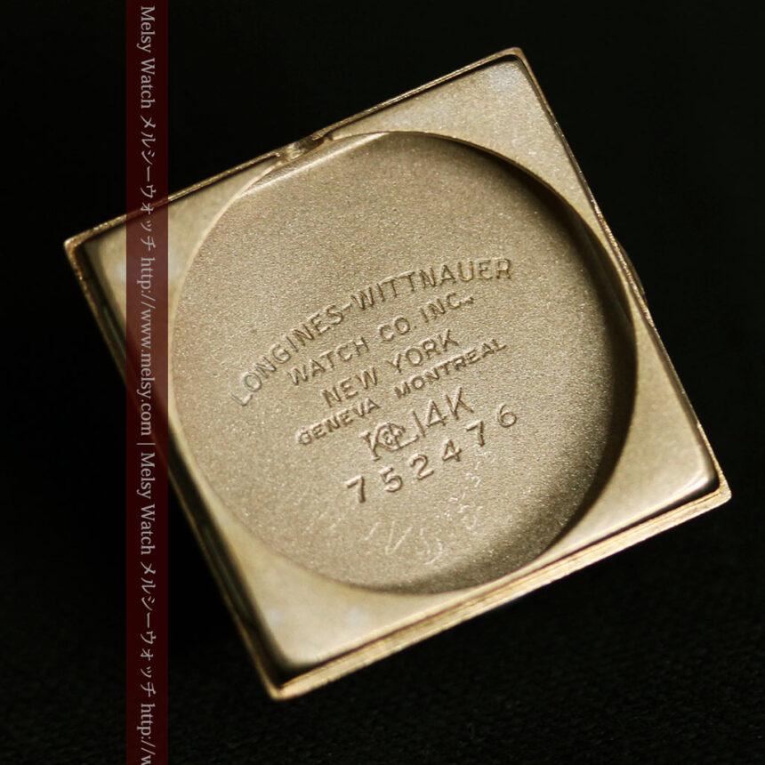 ロンジンのダイヤモンド入り金無垢アンティーク腕時計-W1130-15